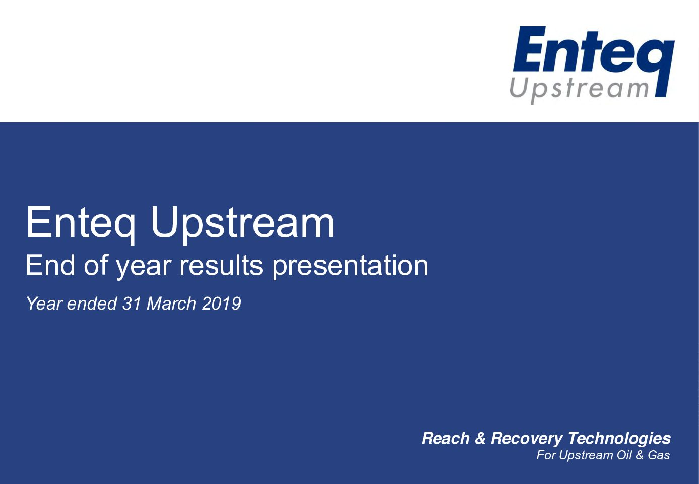 Investor presentation – Full Year results to 31 March 2019