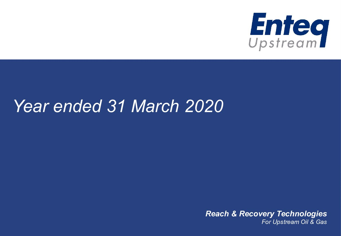 Investor presentation – Full Year results to 31 March 2020