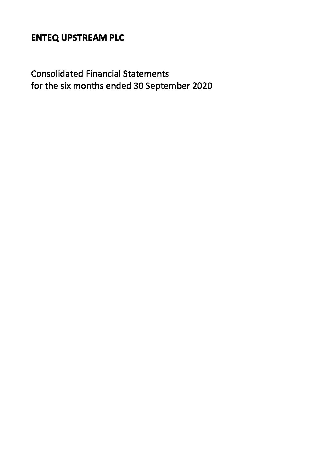 Interim Results to 30 September 2020