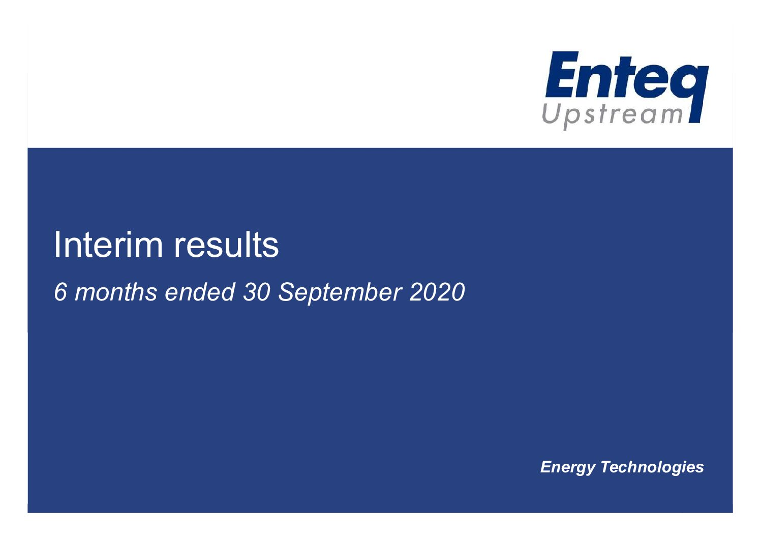 Interim Results 2020 Investors Presentation